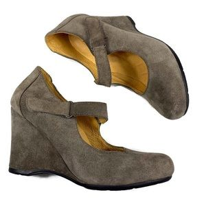 Shoes - Anthropologie Bussola- Suede Wedge